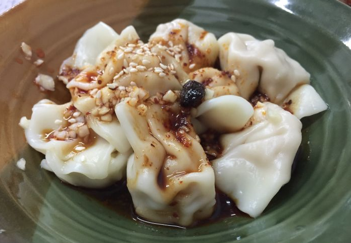 chili oil dumplings from Zhang Mama's Sichuan Restaurant