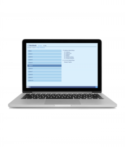 Integrated Chinese Volume 1 Online Workbook is shown on a laptop screen against a white background.